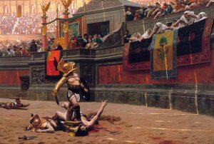 剣闘士の試合と見物