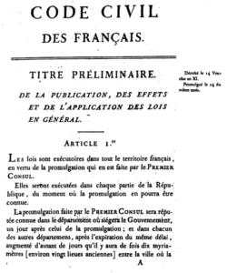フランスのナポレオン法典