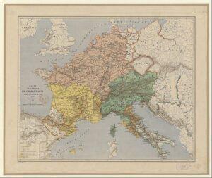 フランク王国の地図